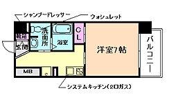 大阪府大阪市都島区片町2丁目の賃貸マンションの間取り