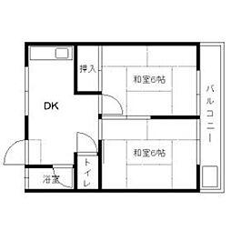 相川コーポ[203号室]の間取り