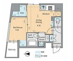 東京メトロ丸ノ内線 淡路町駅 徒歩4分の賃貸マンション 7階2LDKの間取り