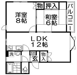 メゾンシャリオB棟[2階]の間取り