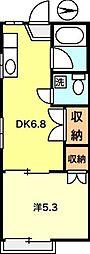 ハイム富士見[105号室]の間取り