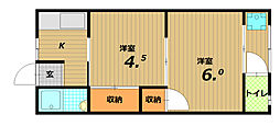 板宿マンション[2階]の間取り