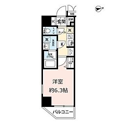 プレール・ドゥーク浅草IV 9階1Kの間取り