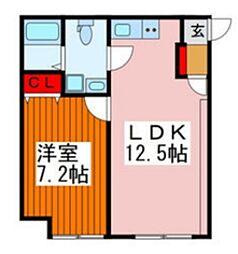 ザ・レジデンス田端 1階1LDKの間取り