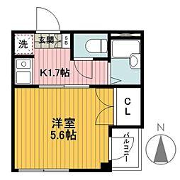 グローリアス横浜[301号室]の間取り