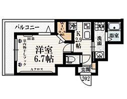 (仮称)豪徳寺1丁目メゾン 2階1Kの間取り