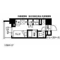 小田急多摩線 小田急多摩センター駅 徒歩10分の賃貸マンション 1階ワンルームの間取り