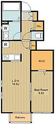 JR中央線 武蔵境駅 徒歩28分の賃貸アパート 1階1SLDKの間取り