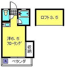 神奈川県横浜市港南区笹下4丁目の賃貸アパートの間取り
