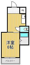 ハイツ富士パートII[6階]の間取り