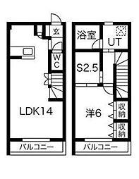 [テラスハウス] 神奈川県川崎市高津区上作延 の賃貸【/】の間取り