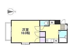 岡山県倉敷市中畝5丁目の賃貸アパートの間取り
