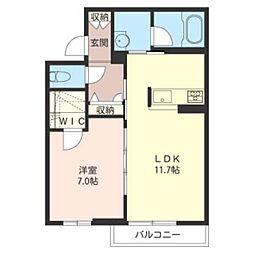 大野台4丁目シャーメゾン(仮) 1階1LDKの間取り