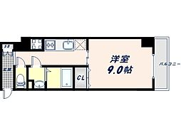 JR大阪環状線 桃谷駅 徒歩9分の賃貸マンション 3階1Kの間取り