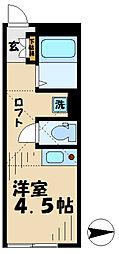 神奈川県大和市柳橋3丁目の賃貸アパートの間取り