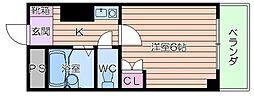 リバティー都島[5階]の間取り