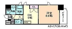 天満泉マンション[7階]の間取り
