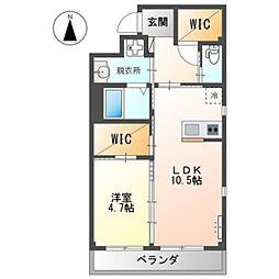 南海高野線 初芝駅 徒歩7分の賃貸アパート 1階1LDKの間取り