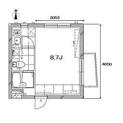 Apartment KURO武蔵小山I[1階]の間取り