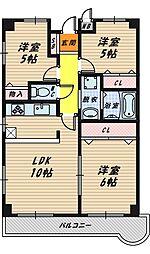 城東大永マンション[108号室]の間取り