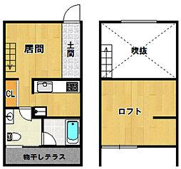 ORTUS AKAMATSU[201号室]の間取り