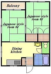 渡辺コーポ[2階]の間取り