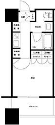 JR山手線 大崎駅 徒歩8分の賃貸マンション 4階1Kの間取り