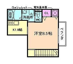 大阪府大阪市福島区福島3丁目の賃貸アパートの間取り