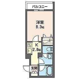 仮)幸区柳町シャーメゾン 3階1Kの間取り