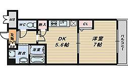 モルゲン北花田[1階]の間取り