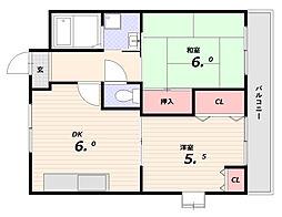 ハイツ雄[2階]の間取り