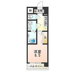 おおさか東線 JR淡路駅 徒歩2分の賃貸マンション 3階1Kの間取り