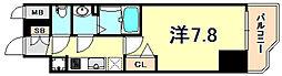 JR東海道・山陽本線 神戸駅 徒歩4分の賃貸マンション 7階1Kの間取り