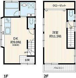 西尾久3丁目貸家 林邸 1階1DKの間取り
