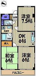 須藤パークハイツ[103号室]の間取り