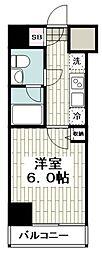 ベルシード横濱吉野町マキシヴ 3階1Kの間取り