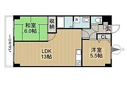 第3桜マンション[106号室]の間取り