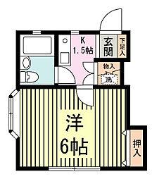 メゾン・ジュン[201号室]の間取り