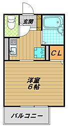 兵庫県神戸市須磨区北町1丁目の賃貸アパートの間取り