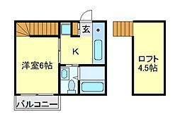 ダルーチャ北初富[2階]の間取り