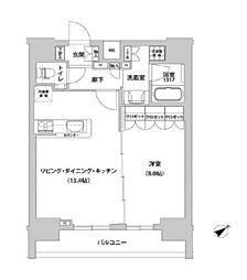 メトロステージ上野[12階]の間取り