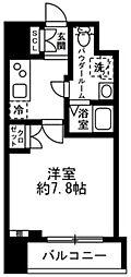 都営新宿線 浜町駅 徒歩6分の賃貸マンション 2階1Kの間取り