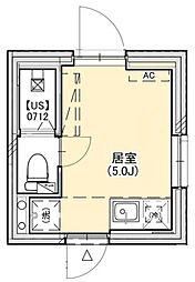PROTO武蔵小山III 2階ワンルームの間取り