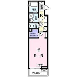 神奈川県厚木市恩名1丁目の賃貸アパートの間取り