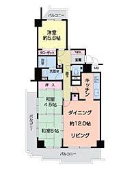 南海高野線 萩原天神駅 徒歩4分の賃貸マンション 5階3LDKの間取り