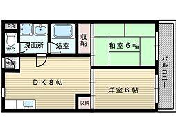 アパートメントNINE[2階]の間取り