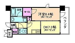 エステムプラザ福島ジェネル 9階1DKの間取り
