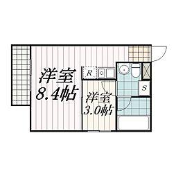 THE・ROOM新検見川(ザ・ルームシンケミガワ)[2-07S号室]の間取り