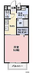 JR東海道新幹線 岐阜羽島駅 徒歩33分の賃貸アパート 1階1Kの間取り
