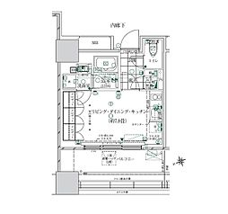 JR山手線 浜松町駅 徒歩10分の賃貸マンション 2階ワンルームの間取り
